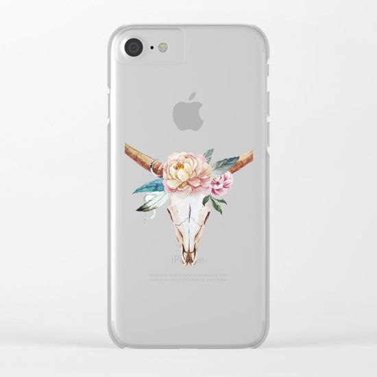 Animal Skull 04 Clear iPhone Case