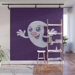 Cute Retro Ghost Wall Mural