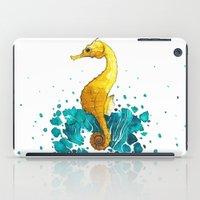 sea horse iPad Cases featuring Sea Horse by Lore Illustration
