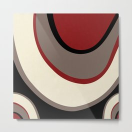 """Abstract Retro Waves"" Metal Print"