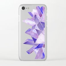 Amethyst Watercolor Clear iPhone Case
