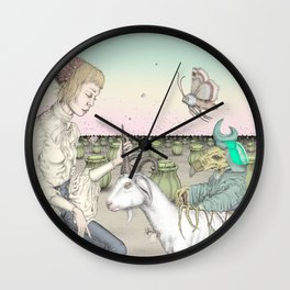 Crippled Hex Wall Clock