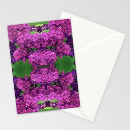 216 - lilacs abstract design Stationery Cards