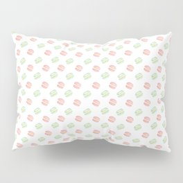 Pistachio and Rose Macarons Pillow Sham