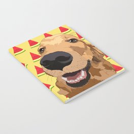 Golden Retriever Dog-Watermelon Notebook