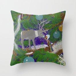 Christmas Connection Throw Pillow