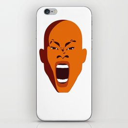 Orange Screaming face Digital pop Art graphic design zolliophone shop Canvas iPhone Skin