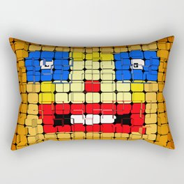 Pixelgesicht. Rectangular Pillow