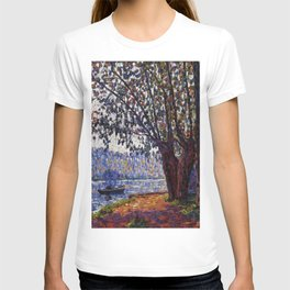 Sunlight on the Banks of the Loing French autumn landscape by Francis Picabia T-shirt