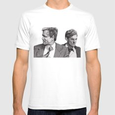 True Detective White LARGE Mens Fitted Tee