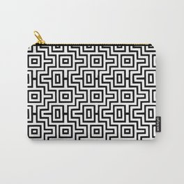 Black & White Choctaw Pattern Carry-All Pouch