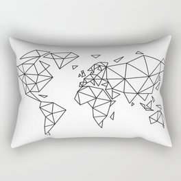 Geometric world map Rectangular Pillow