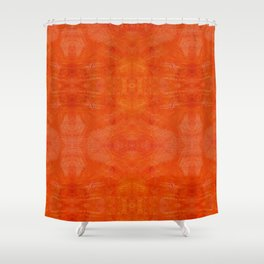 Aztec in orange Shower Curtain