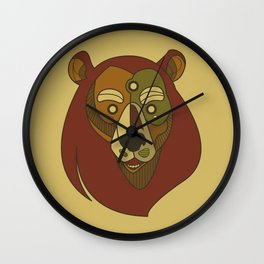 Benk Brown Wall Clock