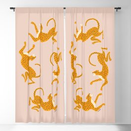 Leopard Race - pink Blackout Curtain