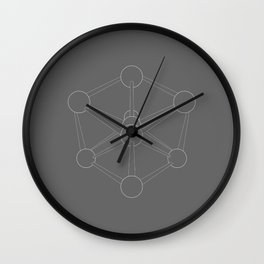 Atomium Illustration Wall Clock