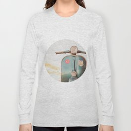 The Blue Vespa Long Sleeve T-shirt