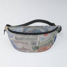 Canadian Pride Vintage Postage Stamp Collection From Canada Fanny Pack