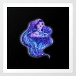 Goddess of the Universe 01 Art Print