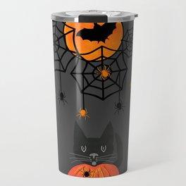 Happy Halloween Pumpkin Moon Travel Mug