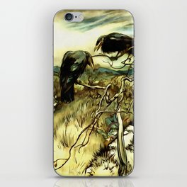 The Two Crows iPhone Skin