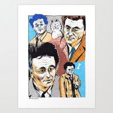 Columbos and Friend Art Print