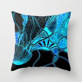 Lava Lamp Aquarium Throw Pillow