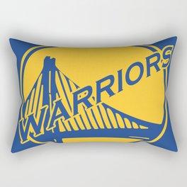 Golden State blue basketball logo Rectangular Pillow