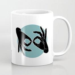 Sign Language (ASL) Interpreter – Black on Turquoise 00 Coffee Mug