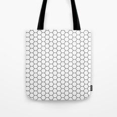 White Hex Tote Bag