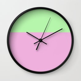 summer pastel - pistachio and raspberry Wall Clock