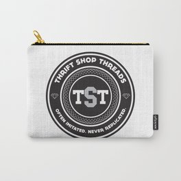 Thrift Shop Threads Button_College Carry-All Pouch