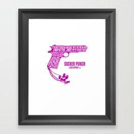 Sucker Punch Pink Framed Art Print