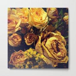 Dead Roses Metal Print