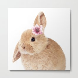 flower bunny Metal Print