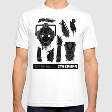 Decommissioned: Cyberman Mens Fitted Tee White SMALL