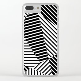 Abstract Striped Triangles Clear iPhone Case