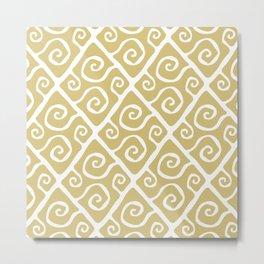 Diamond Pattern Gold Metal Print