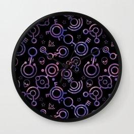 Crop Circles (Nebula Pattern) Wall Clock