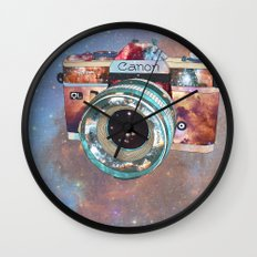 SPACE CAN0N Wall Clock