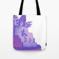 ducks Tote Bags featuring Ducks by Brittany Bennett