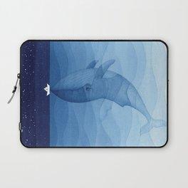 Whale blue ocean Laptop Sleeve