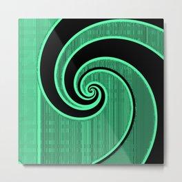 green wave Metal Print