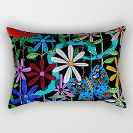 Blood Moon Garden Rectangular Pillow
