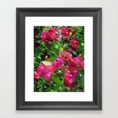 Summer Garden Abstract Framed Art Print