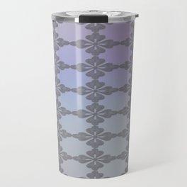 Soft Ornate Grid Pattern Travel Mug