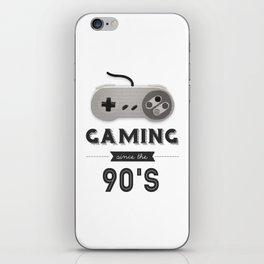 Gaming Since the 90's (Version 1) iPhone Skin
