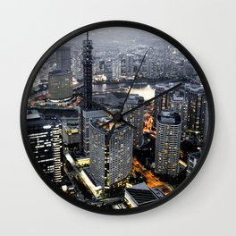 Tokyo Cityscape Skyline Photograph Wall Clock