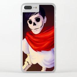 AmazingPhil as Papyrus Clear iPhone Case