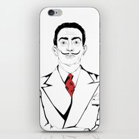 salvador dali iPhone & iPod Skins featuring Salvador Dali by ArpanDholi